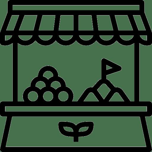 Pictogramme étale du marché