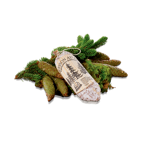 """Le Saucisson au Sapin, gamme """"Les Apéritifs"""" de Mont Charvin"""