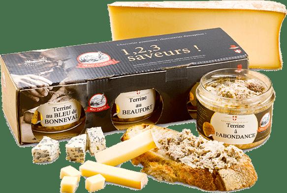 Tartine de terrine à l'abondance et Trio de terrines aux fromages 1, 2, 3 saveurs !