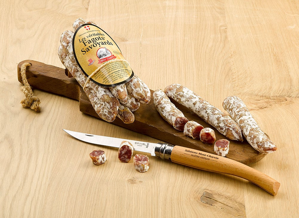 Fagots Savoyards, sliced saucisson
