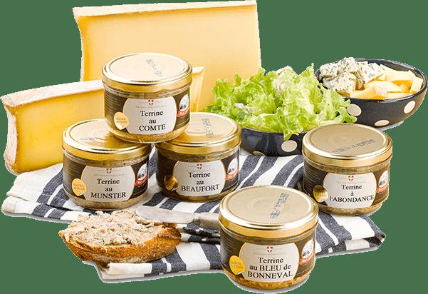 Fromages tranchés, salade et Terrines aux Fromages de Mont Charvin