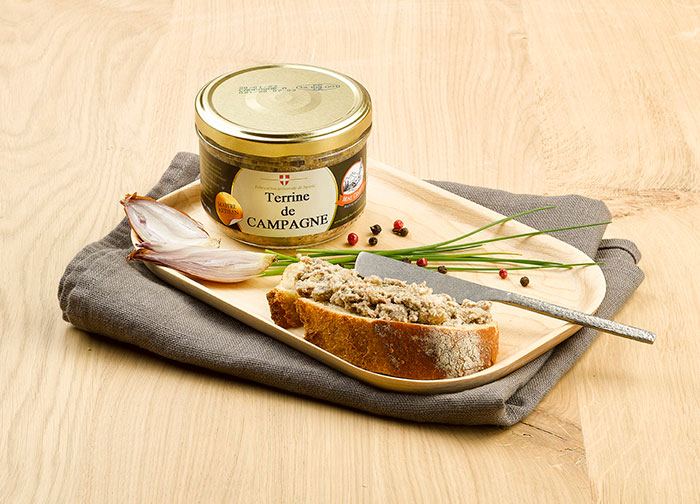 Country Terrine spread on bread