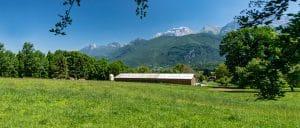 paysage de montagne, vue sur le Mont Charvin